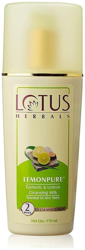 Lotus Herbals Lemonpure Turmeric And Lemon Cleansing Milk 170 ml