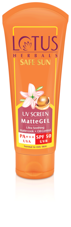Lotus Herbals UV Screen PA+++ Uva Spf 50 Uvb Matte Gel 100 gm (Pack of 2)