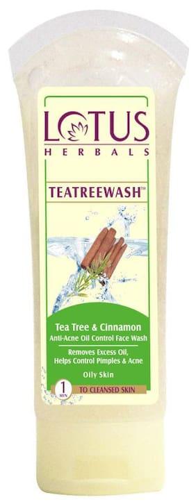 Lotus Herbals Tea Tree & Cinnamon Face Wash 80G