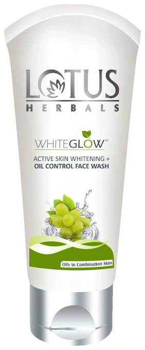 Lotus Herbals Whiteglow Active Skin Whitening Oil Control Face Wash 100 G (Pack Of 3)