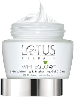 Lotus Herbals White Glow Skin Whitening & Brightening Gel Cream 60 g (Pack of 2)