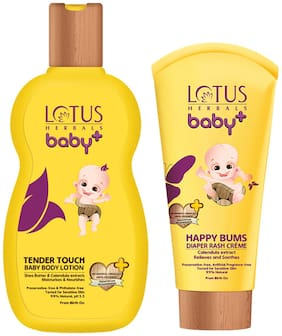 Lotus Herbals Baby+ Combo Pack (Creme 100 gm & Lotion 100 ml)