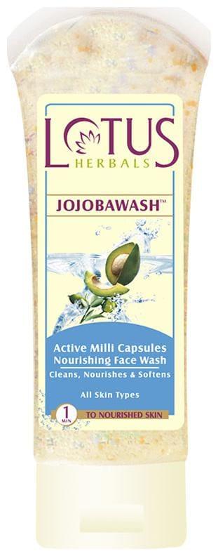 Lotus Herbals Jojobawash Active Milli Capsules Nourishing Face Wash 80 G (Pack Of 3)
