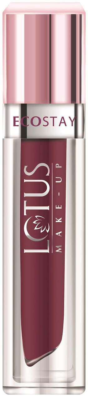 Lotus Herbals Make-up Ecostay Matte Lip Lacquer - Plum Berry (EL06) 4g