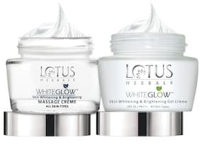 Lotus Herbals White Glow Skin Whitening & Brightening Massage Creme 60 gm And White Glow Skin Whitening & Brightening Gel Cream 60 gm