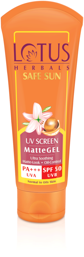 Lotus Herbals UV Screen PA+++ Uva Spf 50 Uvb Matte Gel 100 g (Pack of 3)