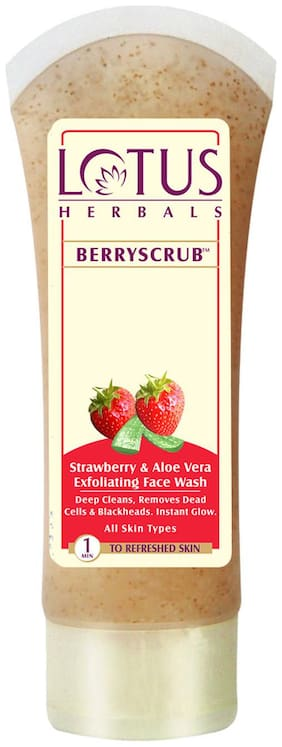 Lotus Herbals Berryscrub 80 G(Pack Of 2)
