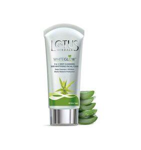Lotus Herbals White Glow 3 In 1 Deep Cleansing Facial Foam (100 G)
