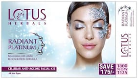 Lotus Herbals Radiant Platinum Cellular Anti - Ageing Facial Kit