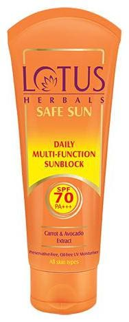 Lotus Herbals Safe Sun Daily Multi-Function Sun Block PA+++ - SPF 70 60 g