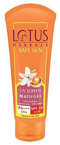 Lotus Herbals Safe Sun Uv Screen Matte Gel PA+++ - SPF 50 50 gm