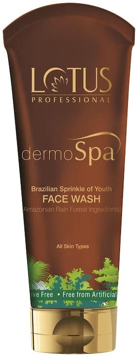 Lotus Herbals Dermo Spa Brazillian Sprinkle Of Youth Anti- Ageing Face Wash