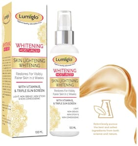 Lumiglo Radiant Boost Whitening Moisturizer With Vitamin B3,Shea & Cocoa Butter Triple Sunscreen For Unisex Restores Visibly Fairer Skin 100 ml (Pack Of 1)