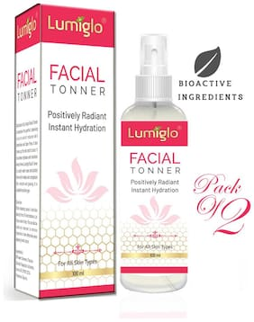Lumiglo Revitalift Facial Toner With Vitamin C Active-White Lotus Oil & Papaya Extract 100 ml each (Pack of 2)