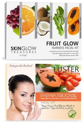 Luster Fruit Glow Fairness And Papaya Frucare Facial Kit-310 ml (Pack of 2)