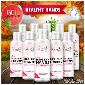 Luster Healthy Hands  72% IP Alcohol (Irritation Free/ Moisture shield/ Doesn't Overdry/ Skin Friendly) Hand Sanitizer 60 ml (Pack of 10)
