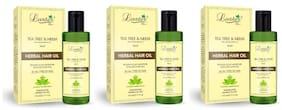 Luster Tea Tree & Neem Herbal Hair Oil 110 ml (Pack of 3)