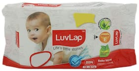 Luvlap Baby Wet Wipes - With Aloe Vera  Paraben Free 72 pulls
