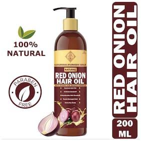 Luxurious Ayurvedic Gold Red Onion Hair Oil 200ml