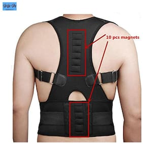 Magnetic Back Brace Posture Corrector for Lower and Upper Back Pain (Waist Size : 31 to 37 cm)