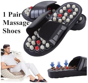 Magnetic Therapy Accu Paduka Slippers Spring Acupressure and for Full Body Blood Circulation Natural Leg Foot Massager Slippers