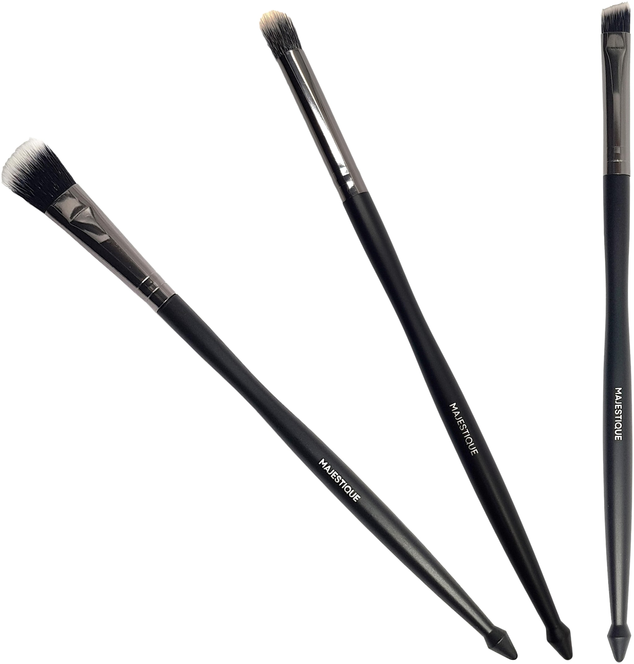 MAJESTIQUE Tri Face Brush Set Makeup Face Brushes Pack Of 3  by Briota Brands