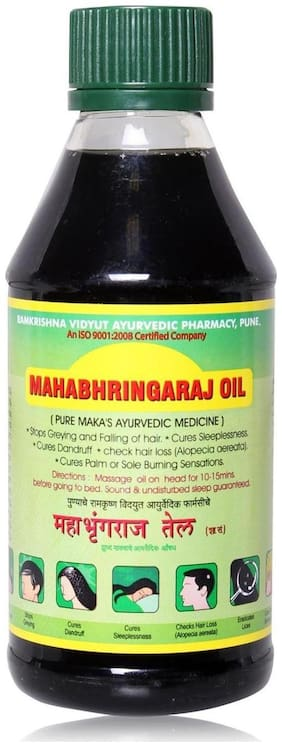 Ramkrishna Vidyut Ayurved Pharmacy Maka Mahabhringraj Oil 200 ml