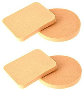 Makeup kit Pack of 4 Imported Cosmetic Makeup Foundation Puff Sponge Blender for women