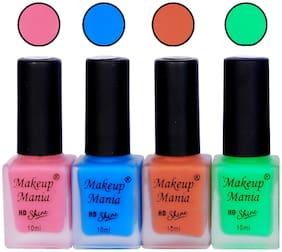 Makeup Mania Matte Nail Paint 10 ml (Pack of 4)