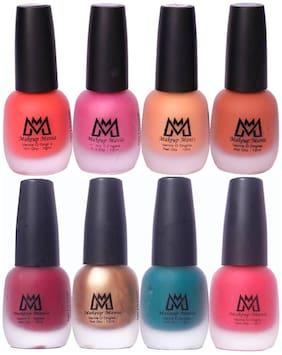 Makeup Mania Nail Polish Set, Velvet Matte Nail Paint Combo Set of 8 Pcs, Multicolor Nail Polish Combo (MM # 17-64)