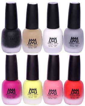 Makeup Mania Nail Polish Set, Velvet Matte Nail Paint Combo Set of 8 Pcs, Multicolor Nail Polish Combo (MM # 59-70)