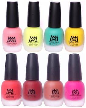 Makeup Mania Nail Polish Set, Velvet Matte Nail Paint Combo Set of 8 Pcs, Multicolor Nail Polish Combo (MM # 16-60)