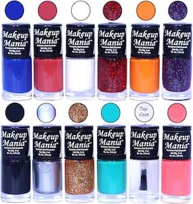 Makeup Mania Nail Polish / Nail Paint 6ml Each Set of 12 Multi Color Combo Set, No.90