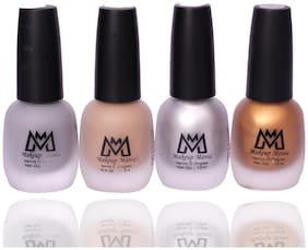 Makeup Mania Nail Polish Set, Velvet Matte Nail Paint Combo Set of 4 Pcs, Multicolor Nail Polish Combo 12 ml each bottle (Set # 67)