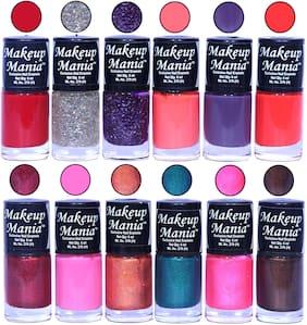 Makeup Mania Nail Polish / Nail Paint 6ml Each Set of 12 Multi Color Combo Set, No.109