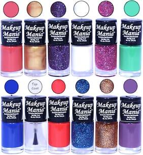 Makeup Mania Nail Polish / Nail Paint 6ml Each Set of 12 Multi Color Combo Set, No.87
