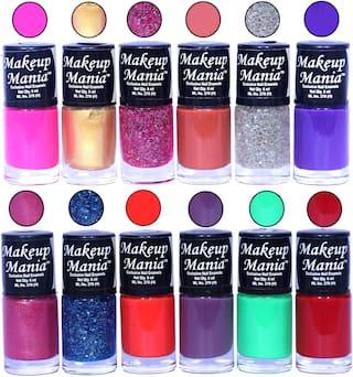 Makeup Mania Nail Polish / Nail Paint 6ml Each Set of 12 Multi Color Combo Set, No.88