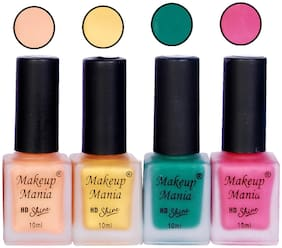 Makeup Mania Matte Nail Paint 10 ml (Pack of 4)