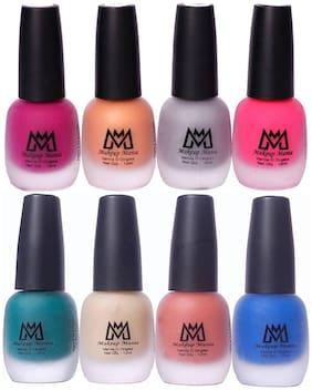 Makeup Mania Nail Polish Set, Velvet Matte Nail Paint Combo Set of 8 Pcs, Multicolor Nail Polish Combo (MM # 21-68)