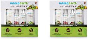 Mamaearth Anti Hair Loss Kit-Hair Oil (150mlx2), Shampoo (200mlx2), Conditioner (200mlx2) & Tonic(150mlx2) Pack of 8