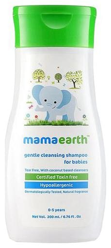 Mamaearth Baby Shampoo - Gentle Cleansing  0-5 years 200 ml