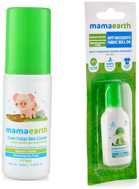 Mamaearth baby Skin Cleanser (100 ml) and Anti Mosquito Fabric Roll On (8 ml) (Pack of 2)