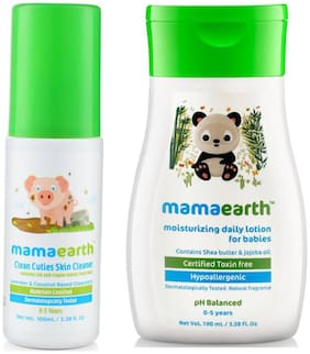 Mamaearth Baby Skin Cleanser 100 ml (For Cleaning Pen, Marker, Make Up And Crayon Marks) And Daily Moisturizing Baby Lotion 100 ml