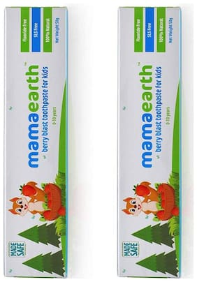 MamaEarth Berry toothpaste 50g and Berry toothpaste 50g (Pack of 2)