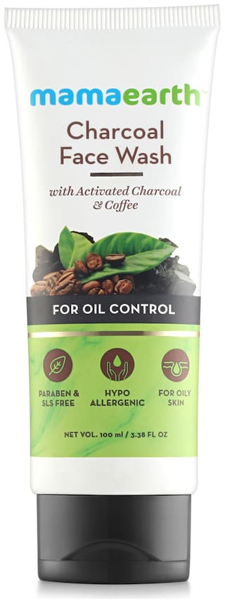 Mamaearth Charcoal Natural Face Wash For Oil Control And Pollution Defence 100 ml - For Oily Skin 100 ml