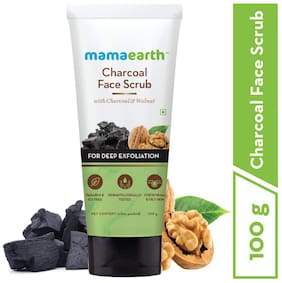 Mamaearth Charcoal Face Scrub For Oily Skin & Normal skin;with Charcoal & Walnut for Deep Exfoliation 100g