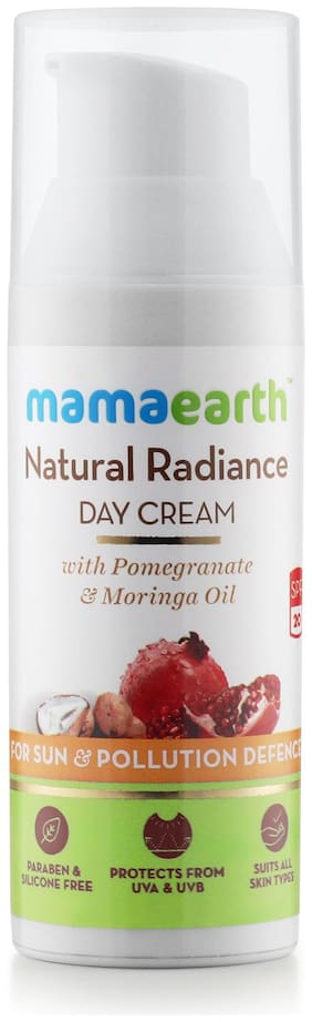 Mamaearth Day Cream With Spf 20+, Whitening And Tightening Face Cream With Moringa & Pomegranate Oil 50ml
