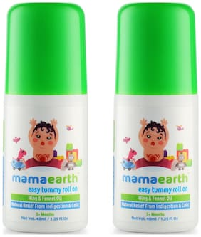 Mamaearth Easy baby Tummy Roll On for Digestion & Colic Relief with Hing & Fennel 40 ml (Pack of 2)