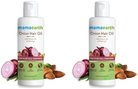 Mamaearth for Onion Hair Oil  Regrowth & Hair Fall Control with Redensyl 150ml  Each Pack of 2
