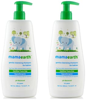 Mamaearth Gentle Cleansing Shampoo for babies (400 ml;0-5 Yrs)( Pack of 2)